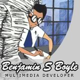 Screenshot: resume of Benjamin S. BOYLE, Multimedia developer